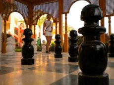 Velké šachy v hotelu Aqua Blu