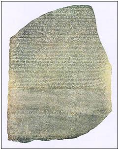 Historie Egypta - Rosettsk� deska
