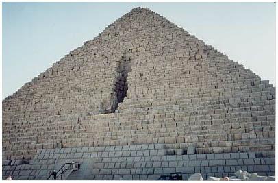 Egypt - Menkaureova pyramida - Gíza